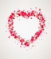 Cadre de carte Happy Valentines vecteur