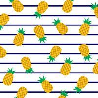 Ananas à rayures marines. vecteur