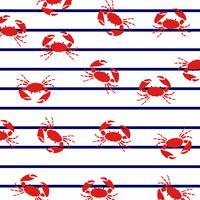 Crabes à rayures marines. vecteur