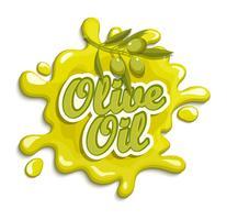 Étiquette d'huile d'olive. vecteur