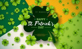 Joyeux jour de la Saint Patrick vecteur