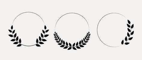 ensemble de collection de couronne de laurier. illustration vectorielle eps10 vecteur
