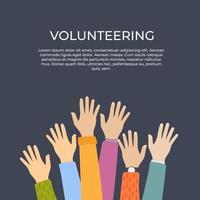 fond de concept de bénévolat. illustration vectorielle. vecteur