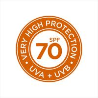 Protection UV, solaire, Très haut SPF 70 vecteur