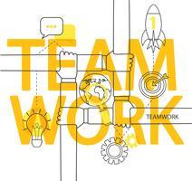 Infographie de concept de travail d'équipe.