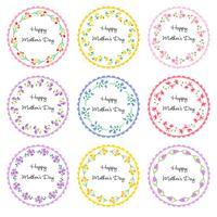 cadres de cercle de fête des mères