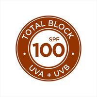 Protection UV, protection solaire, Total Block SPF 100 vecteur