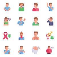 infections et maladies de la peau vecteur