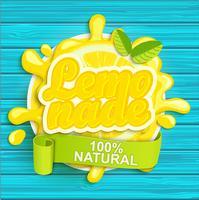 Étiquette de limonade splash. vecteur