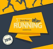 Courir le marathon et le jogging. vecteur