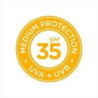 Protection UV, protection solaire, SPF 35 moyen. vecteur
