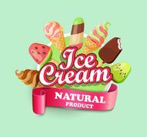Emblème de la crème glacée.