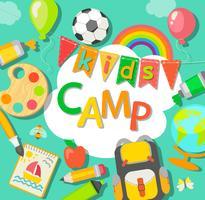 Affiche du camp d'été.