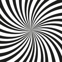 Fond de rayons noir et blanc lumineux. Effet Twister vecteur