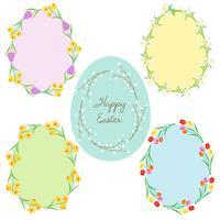 cadres de Pâques en forme d'oeuf