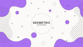 fond géométrique abstrait de forme liquide plat violet moderne vecteur