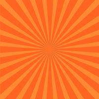 Fond de rayons orange vif. vecteur