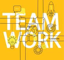 Infographie du concept de travail d'équipe.