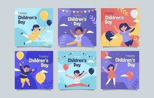 collection de publications instagram pour la journée des enfants vecteur