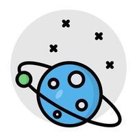 un design plat, icône de la planète tournante vecteur