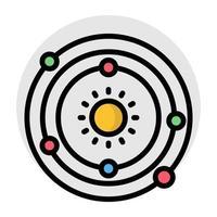 un design plat, icône d'orbite tournante vecteur