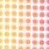 Fond dégradé de points roses et orange.
