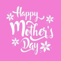 Bonne fête des mères lettrage de fleurs de Pentecôte. vecteur