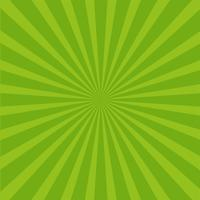 Fond de rayons vert vif. vecteur