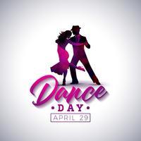 Illustration de la journée internationale de la danse vecteur