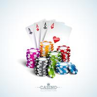 thème de casino Illustration vecteur