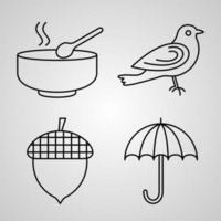 jeu d'icônes d'automne illustration vectorielle eps vecteur