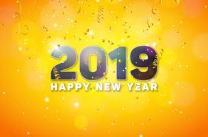 Bonne année 2019 Illustration vecteur