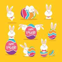 Oeufs et lapins de Pâques