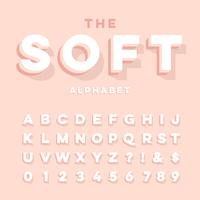 Alphabet 3D doux vecteur