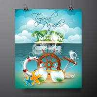 Design de vacances d'été vecteur