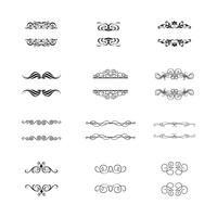Ornements calligraphiques et cadres calligraphiques. vecteur