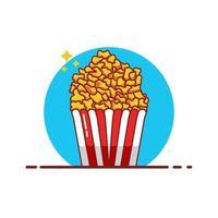 illustration vectorielle pop corn vecteur