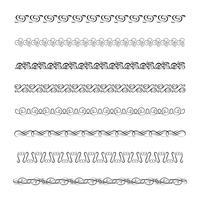 Ornements et cadres calligraphiques vecteur