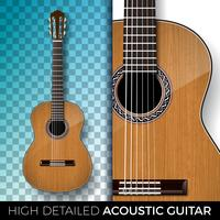 Illustration de la guitare acoustique vecteur