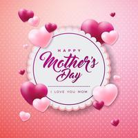 Bonne fête de mères voeux vecteur