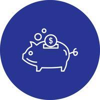Icône de cochon de vecteur