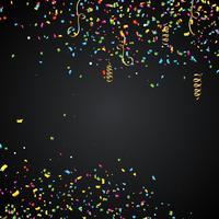 Illustration abstraite avec des confettis colorés