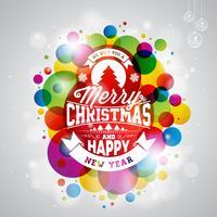 Illustration de joyeux Noël vacances vecteur