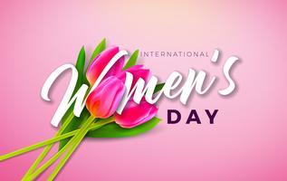 Heureuse illustration de la journée des femmes vecteur