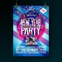 Affiche de fête de nouvel an vecteur