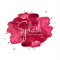 Belle conception colorée d'aquarelle Splash