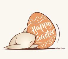 Lapin de Pâques et oeuf de Pâques vecteur