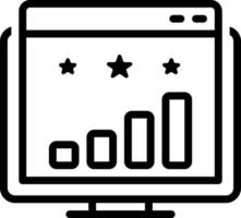 icône de ligne pour le classement du site Web vecteur