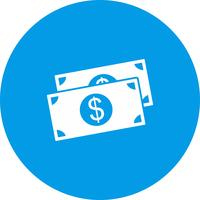 icône de vecteur dollar
