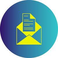 icône de lettre de vecteur